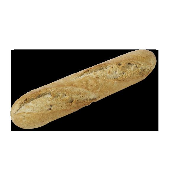 Part-baked multigrain half baguette x2 - Menissez
