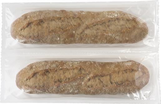 HalbeKörner-Baguette x2, im Steinofen vorgebacken - Menissez