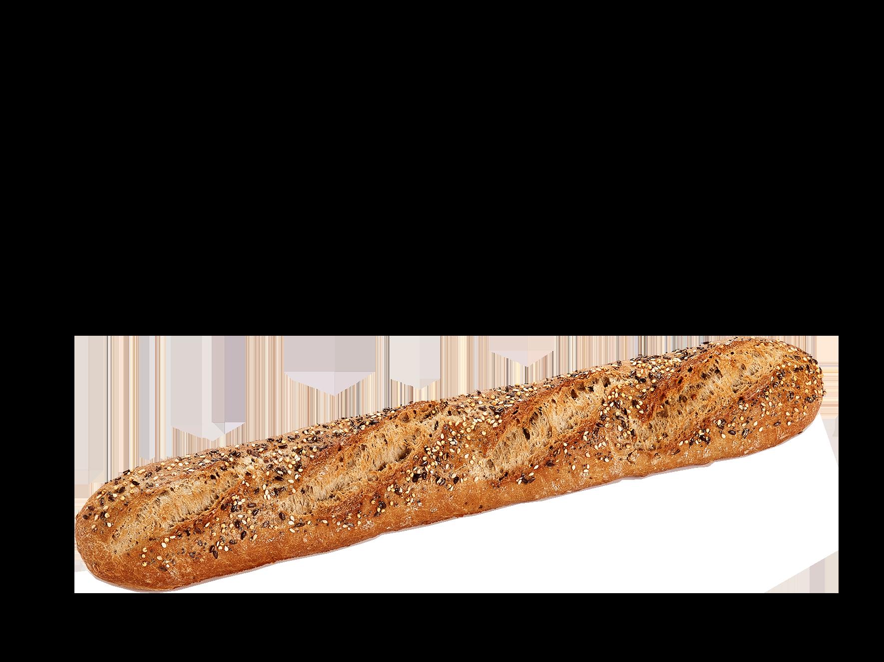 Baguette céréales précuite au four à pierre – Topping céréales - Menissez