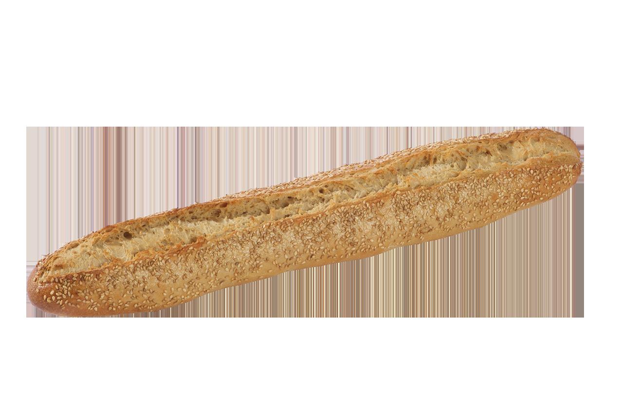 Baguette précuite au four à pierre – Topping sésame - Menissez